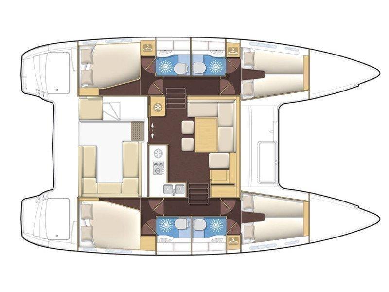 Lagoon 400 S2 (Lag400s202) Plan image - 12