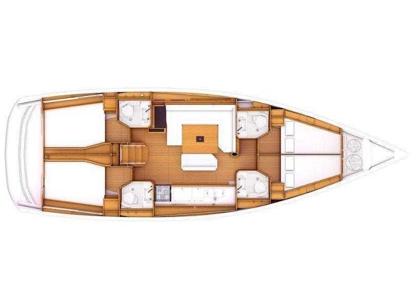 Sun Odyssey 469 - Skippered (ath46902) Plan image - 1