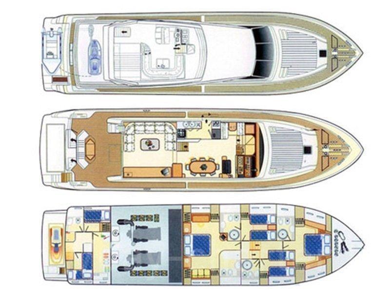 Azimut 80 (Seafree) Plan image - 3
