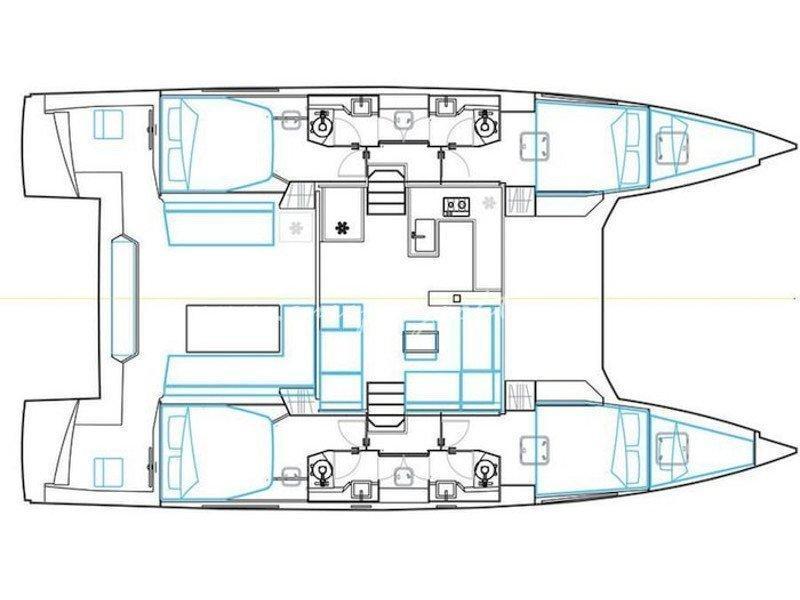 Nautitech 46 Fly (Daria II) Plan image - 2