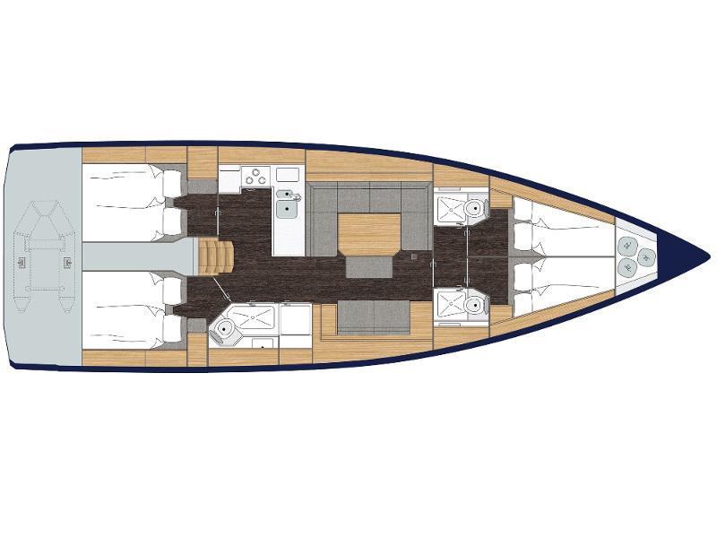 Bavaria C45 Style (Amaryllis) Plan image - 4