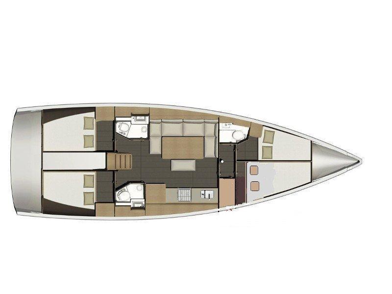 Dufour 460 Grand Large (Nora) Plan image - 1
