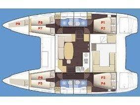 Lagoon 400 (Tortuga) Plan image - 2
