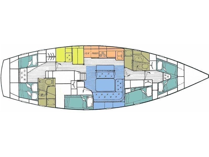 Hallberg-Rassy 49 (Big Blue) Plan image - 2