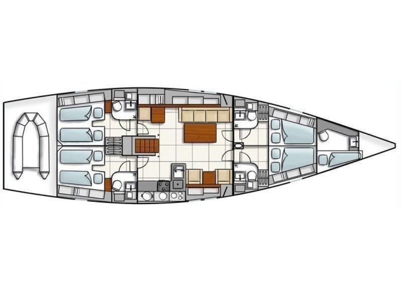 Hanse 540e (Dolce Vita) Plan image - 9