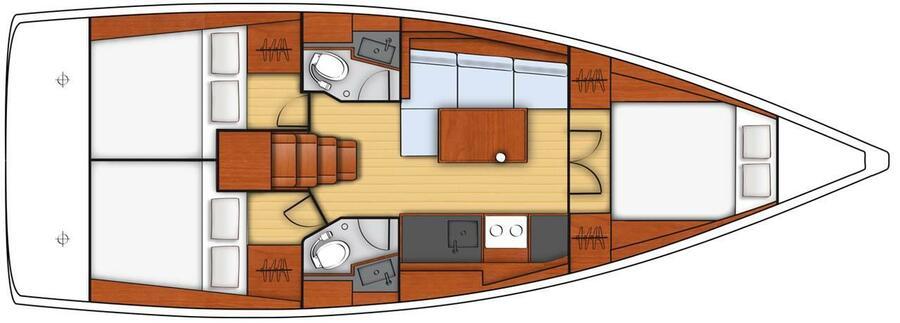 Oceanis 38.1 (Pleasure) layout - 10