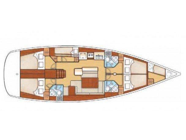 Oceanis 50 (Pura Vida (A/C - Generator) (Refit 2019)) Plan image - 5