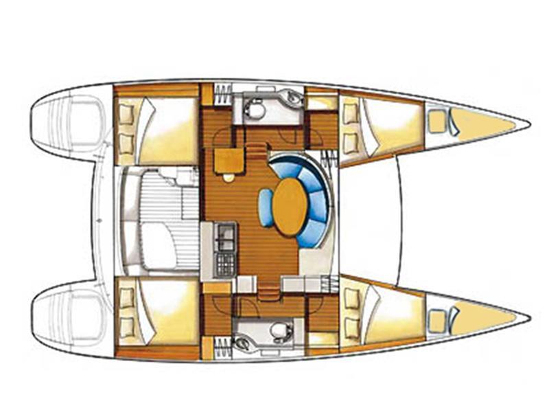 Lagoon 380 (Grey pearl (AC + generator)) Plan image - 5