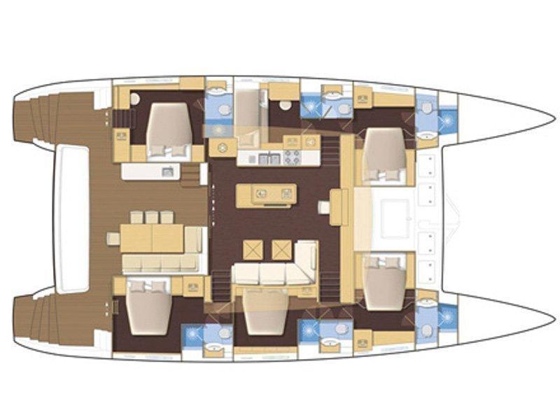 Lagoon 620 (Valium 62) Plan image - 1