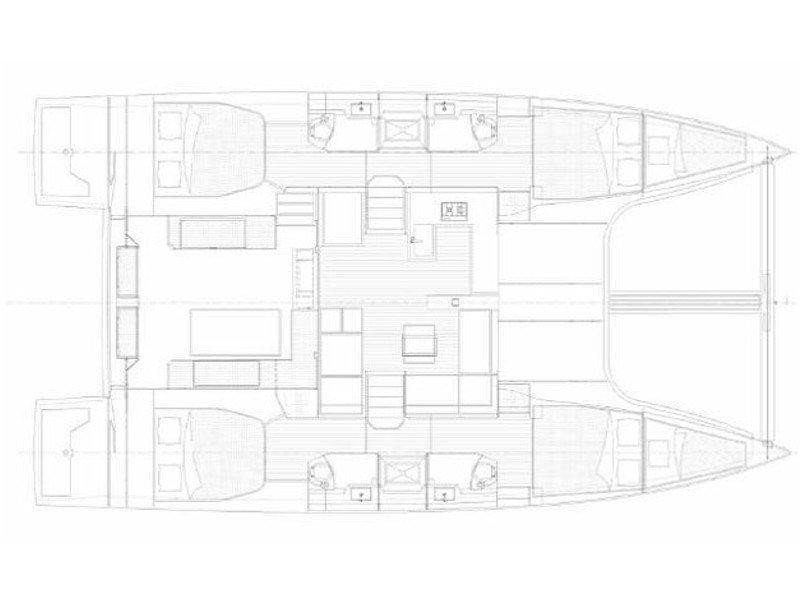 Nautitech 46 Fly (Togina) Plan image - 5