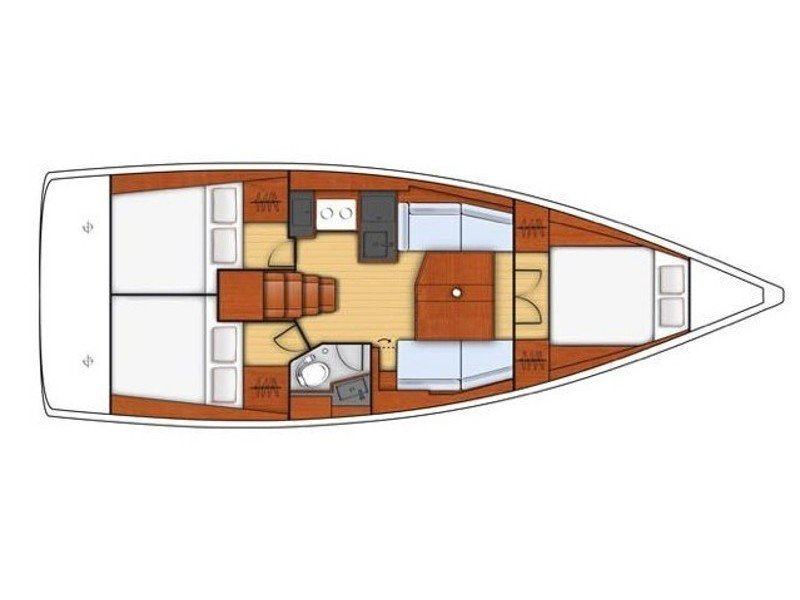Oceanis 38.1 (Mici) Plan image - 3