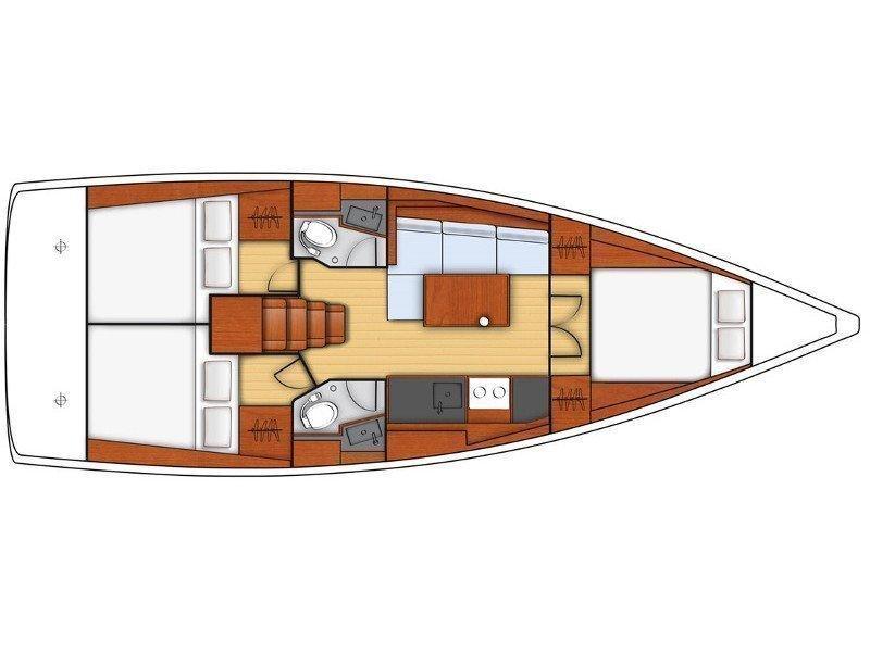 Oceanis 38.1 (Reya) Plan image - 1