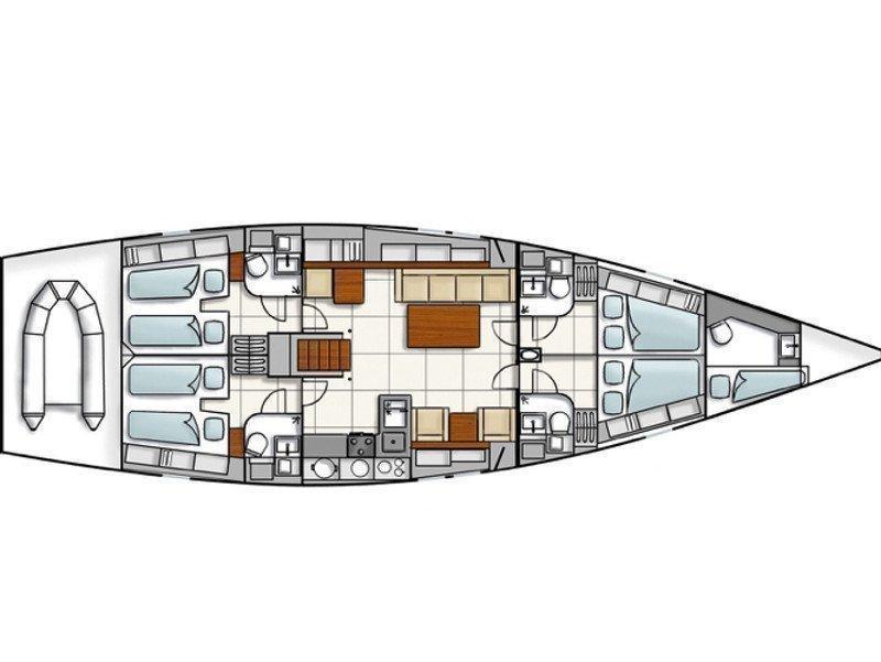 Hanse 540e (Ventum) Plan image - 12