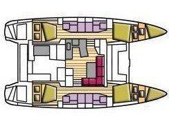 Lagoon 42 (Beta Persei II (GND)) Plan image - 3
