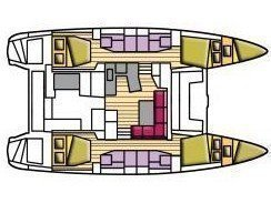 Lagoon 42 (Cucuncio (GND)) Plan image - 1