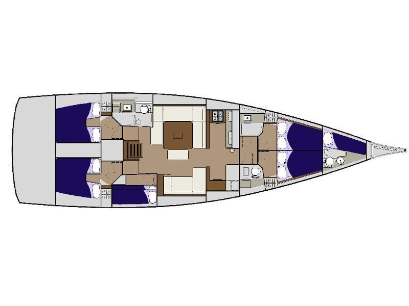 Dufour 56 Exclusive (BAZILIO - fully equipped) Plan image - 19