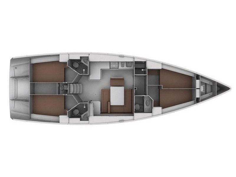 Bavaria 45 Cruiser (Priamos) Plan image - 1