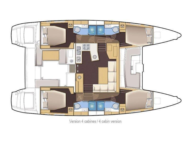 Lagoon 450 (Red Twin F) Plan image - 19