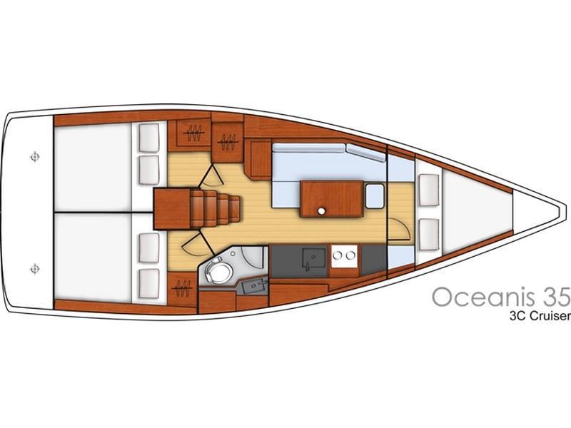 Beneteau Oceanis 35 (JEAN MICHEL) Plan image - 14