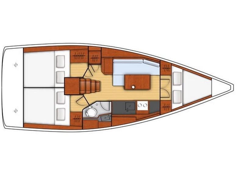 Beneteau Oceanis 35.1 (MAYA BAY 2 with AC) Plan image - 10