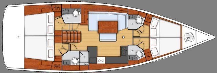 Oceanis 48 (4cab) (Spritz) Plan image - 3