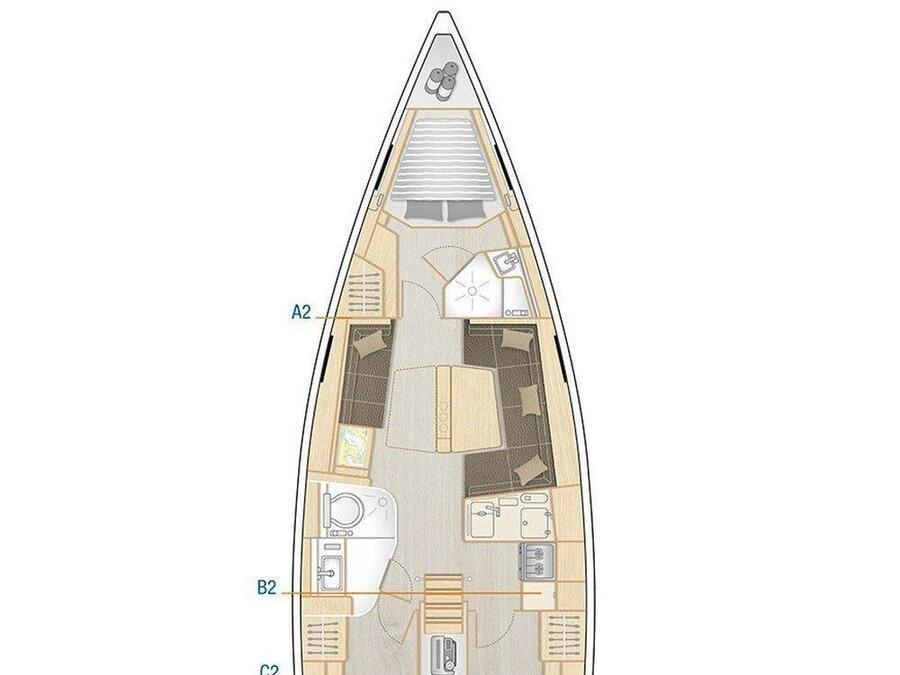 Hanse 418 (Elba) Plan image - 6