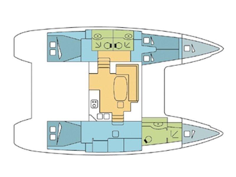 Lagoon 400 S2 (Silba) Plan image - 18