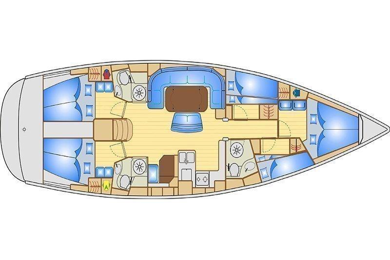 Bavaria 50 Cruiser (Giradora refitting 2017) Plan image - 4
