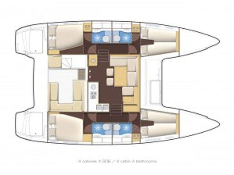 Lagoon 400 S2 (Emerald Seas) Plan image - 9