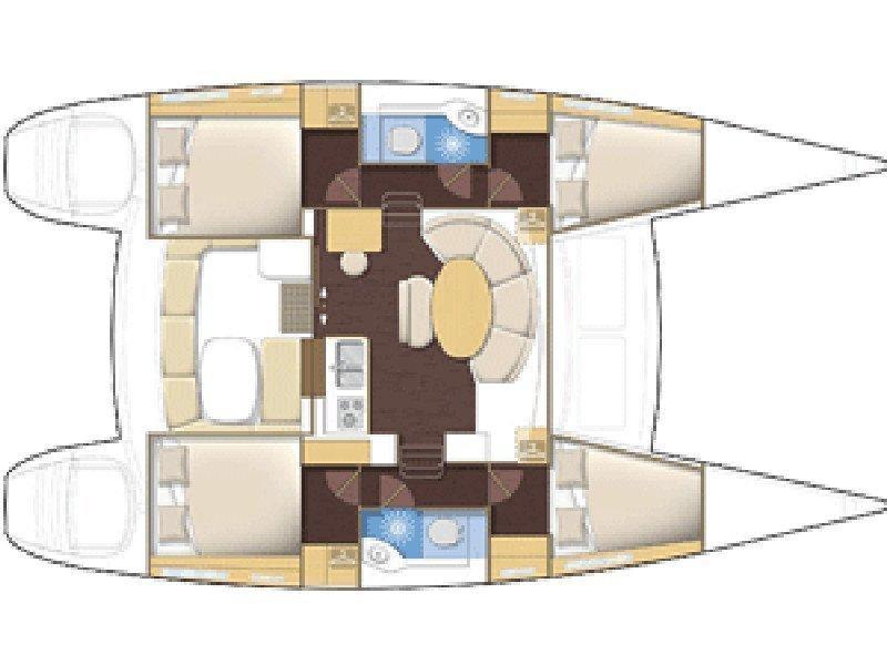 Lagoon 380 (ThunderCat) Plan image - 1
