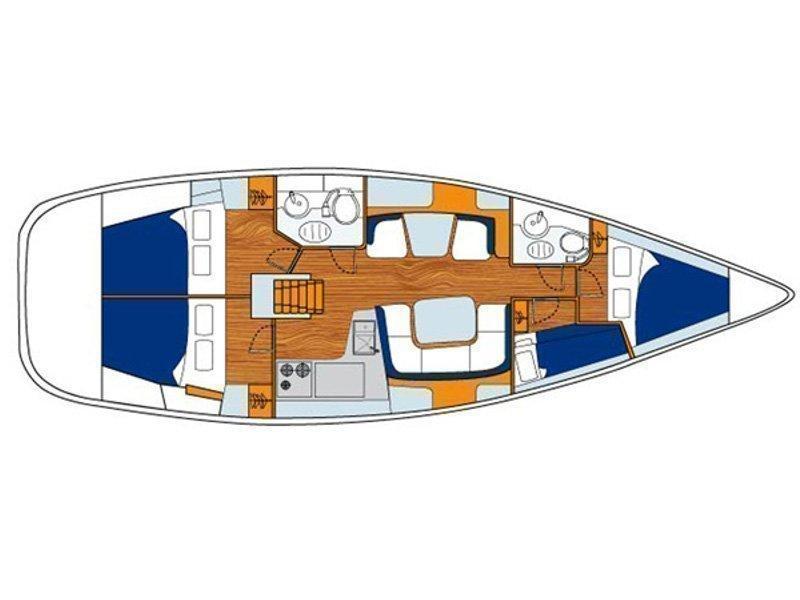 Sun Odyssey 43DS (Nikolaos) Plan image - 4