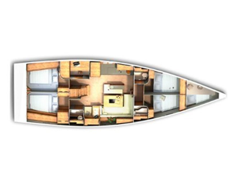 Hanse 505 (Ariel) Plan image - 5