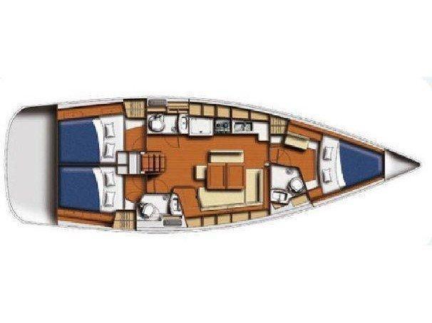 Beneteau Oceanis 43 (TIAMO) Plan image - 5