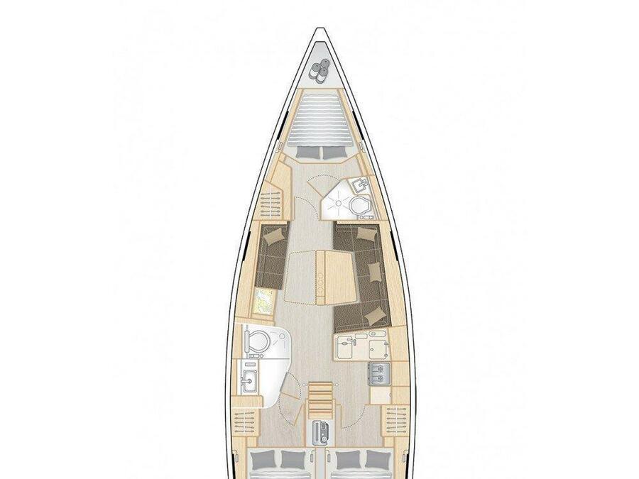 Hanse 418 (AZUR) Plan image - 11
