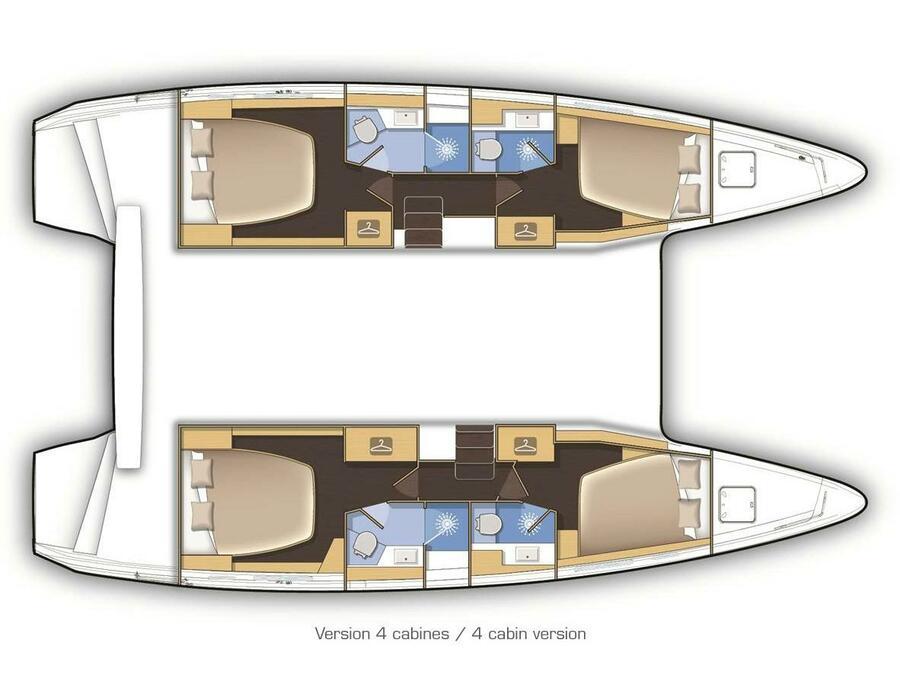 Lagoon 42 (DEJA VU) Plan image - 14