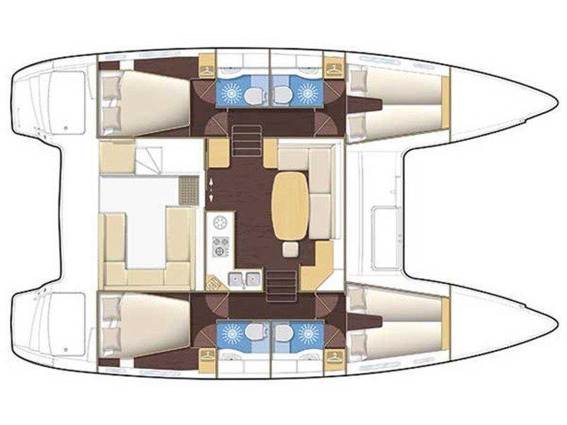 Lagoon 400 (Delfis) Plan image - 3