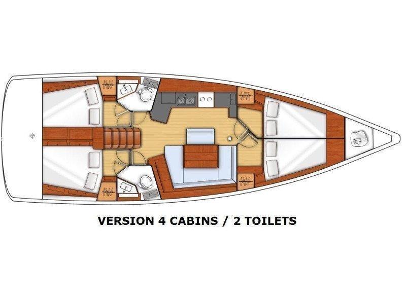 Oceanis 45 (Alfa) Plan image - 1