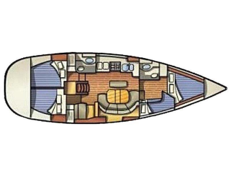 Oceanis 411 (Burda) Plan image - 1