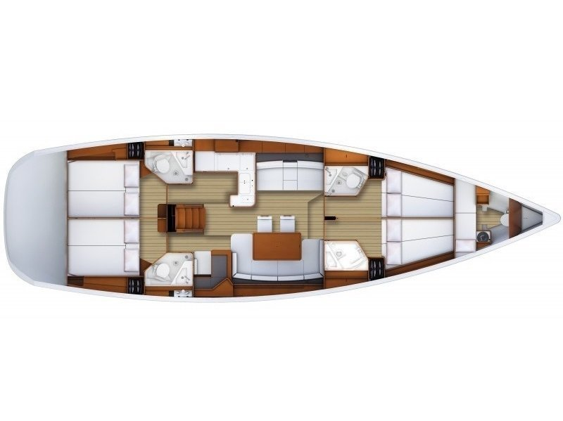 Jeanneau 53 (Nazli Denizim) Plan image - 7