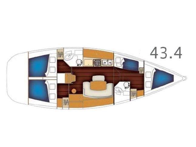 Cyclades 434 (Zeus) Plan image - 1