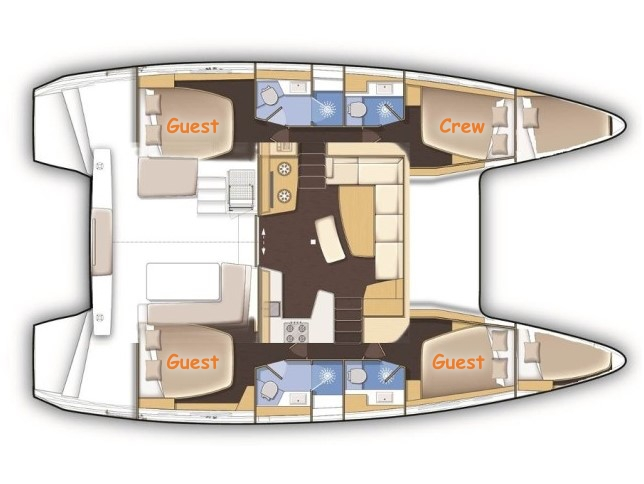 Lagoon 42 (SEA VOYAGER - CREWED) Plan image - 15