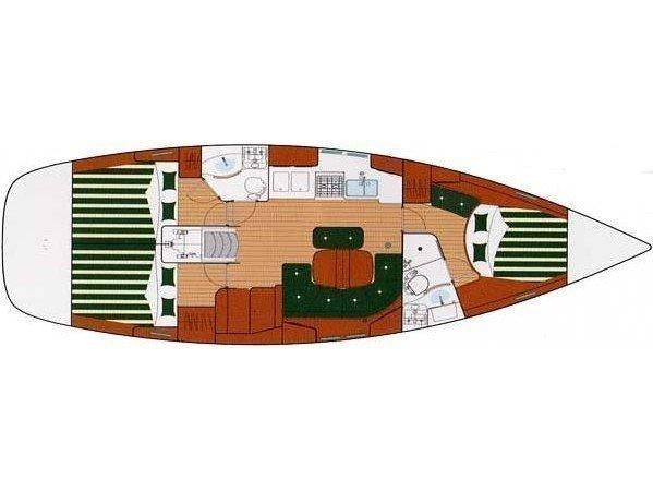 Oceanis Clipper 423 (Aenaon) Plan image - 4
