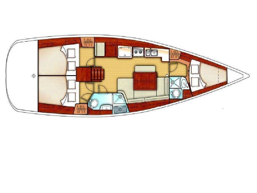 Oceanis 40 (Snooze) Plan image - 3
