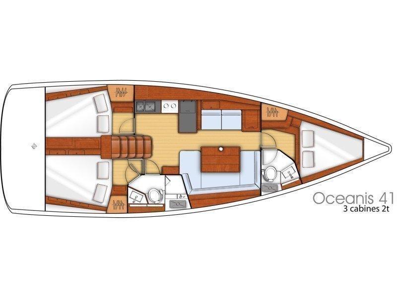 Oceanis 41 (LIMONI) Plan image - 11