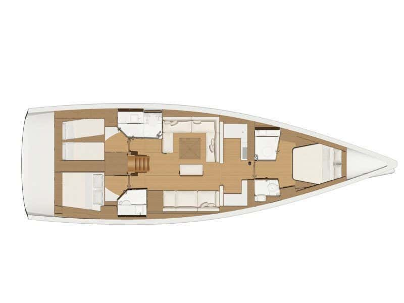 Dufour 520 Grand Large (Houat) Plan image - 4