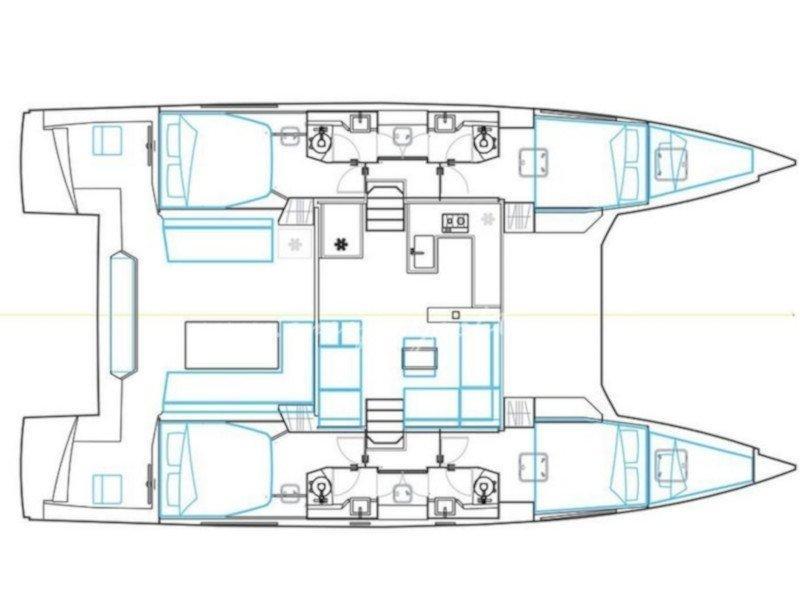 Nautitech 46 Fly (Santorin) Plan image - 2
