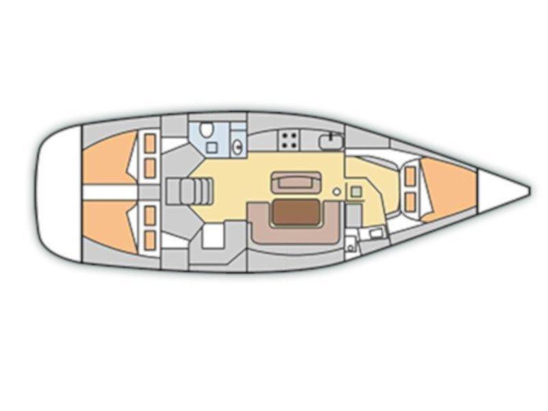 Dufour 425 (Franca) Plan image - 4