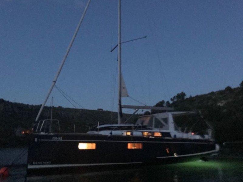 Oceanis 38.1 (Baby Dory AC shore power underwater light blue hull)  - 3