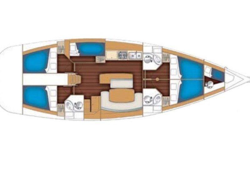 Oceanis 50 Family (Flying Colours) Plan image - 11