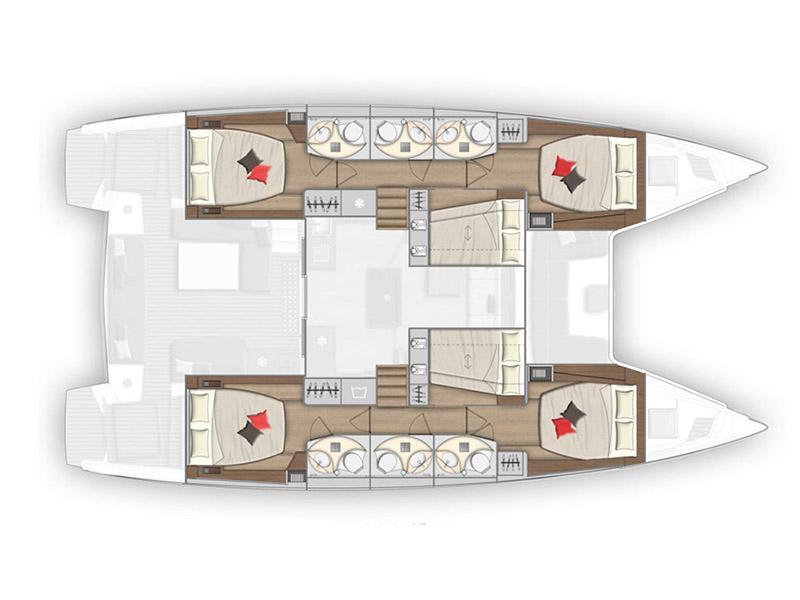 Lagoon 50 (Zuzo 1 - NEW IN FLEET!) Plan image - 25